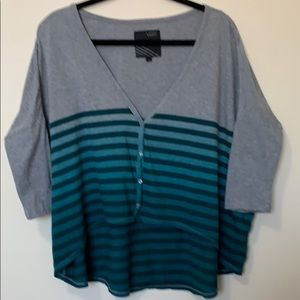 VANS 3/4 SLEEVES BUTTONS DOWN TOP